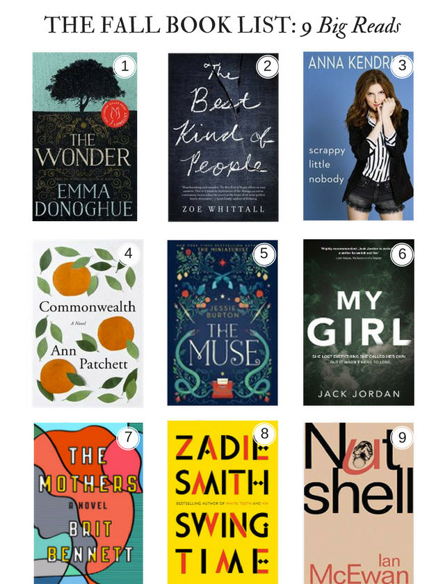 fall book list, fall reads, 9 fall reads
