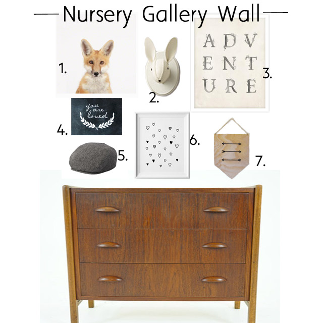 nursery gallery wall, nursery decor, nursery