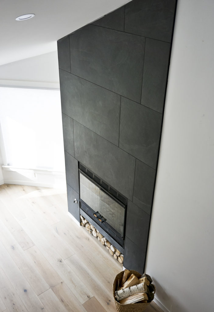 finished fireplace, fireplace design, floor to ceiling fireplace