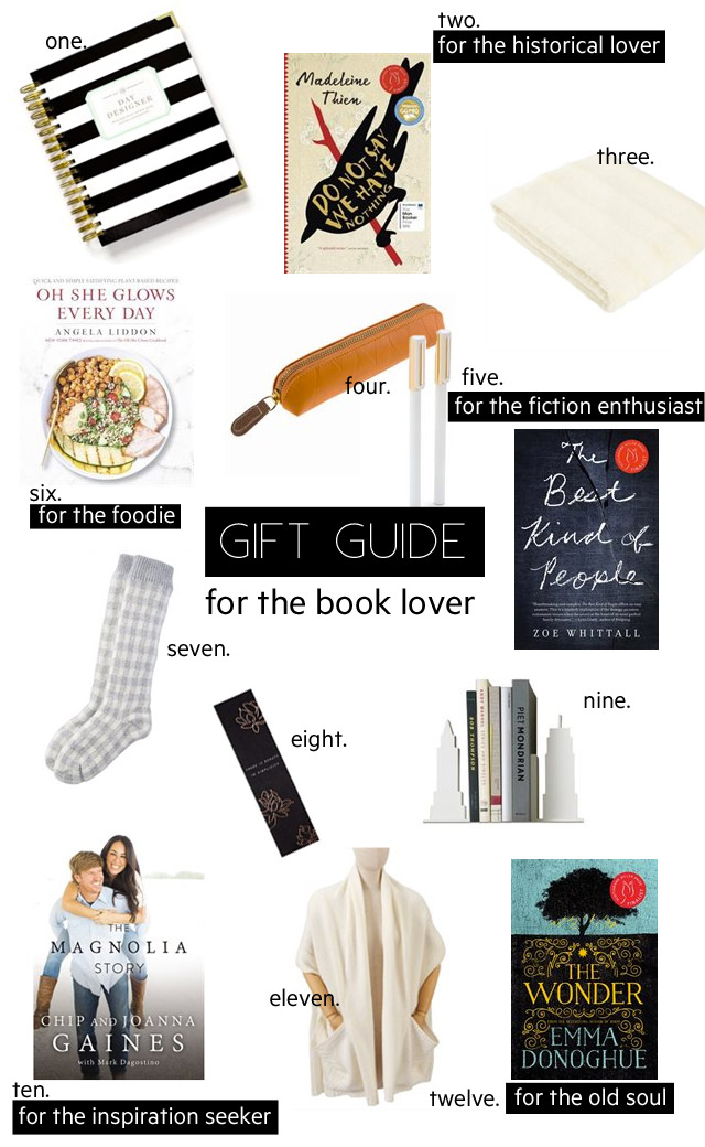gift guide, gift guide for the book lover, gift ideas, gift guide 2016
