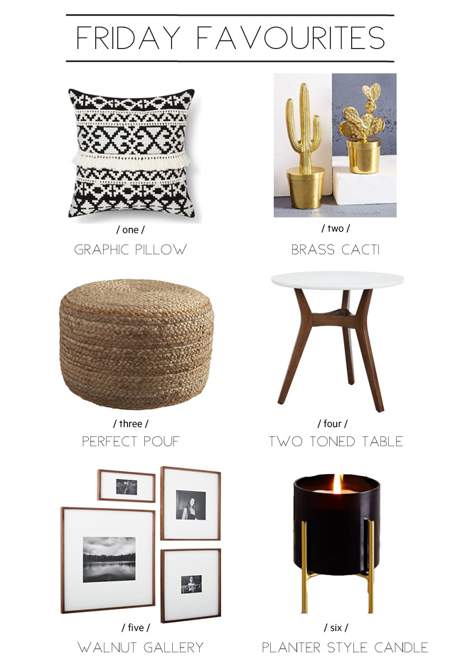 a round up of home decor favourites