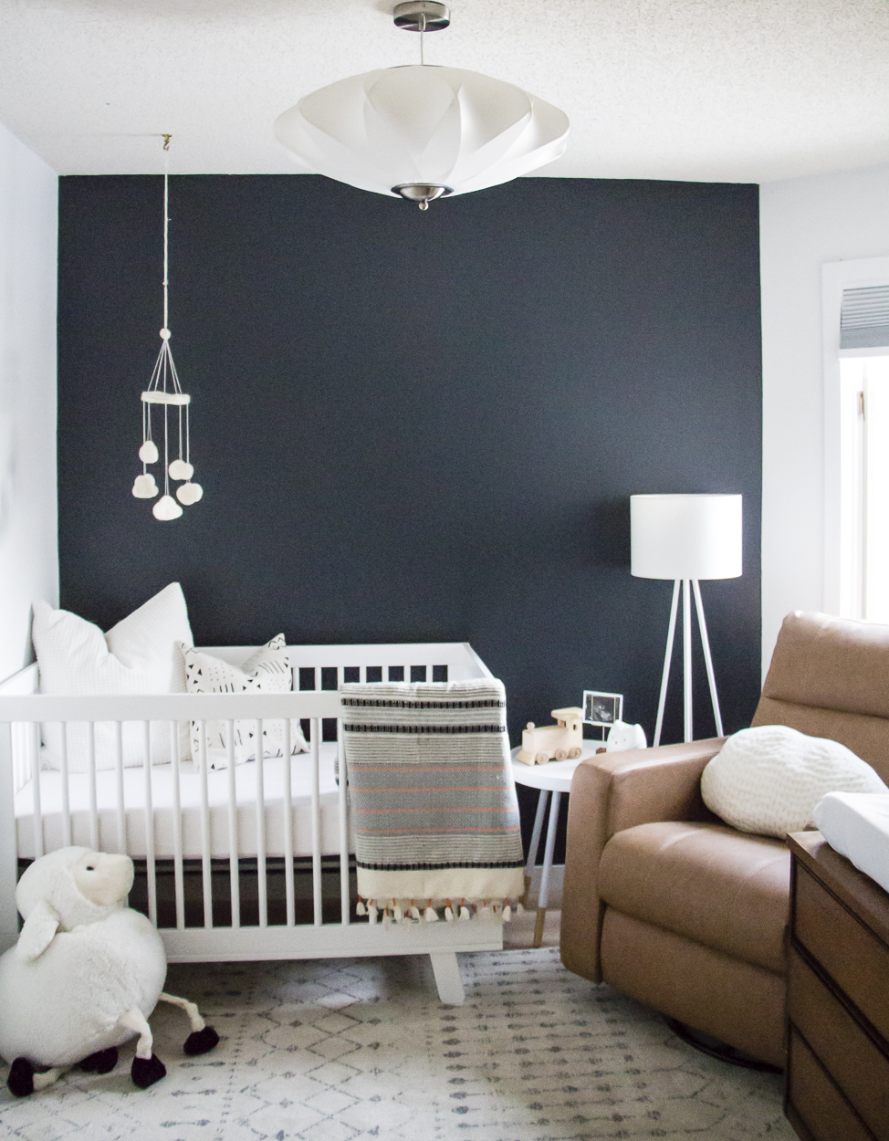 Oh baby jack 39 s sweet simple nursery reveal kristina lynne for Simple nursery design