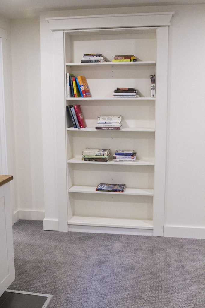 before and after, home design, home decor, house flip, bookcase
