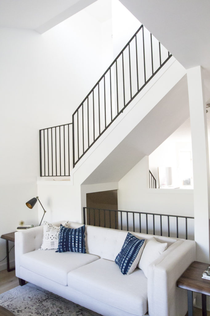 Metal Railings + A Sleek Staircase Design