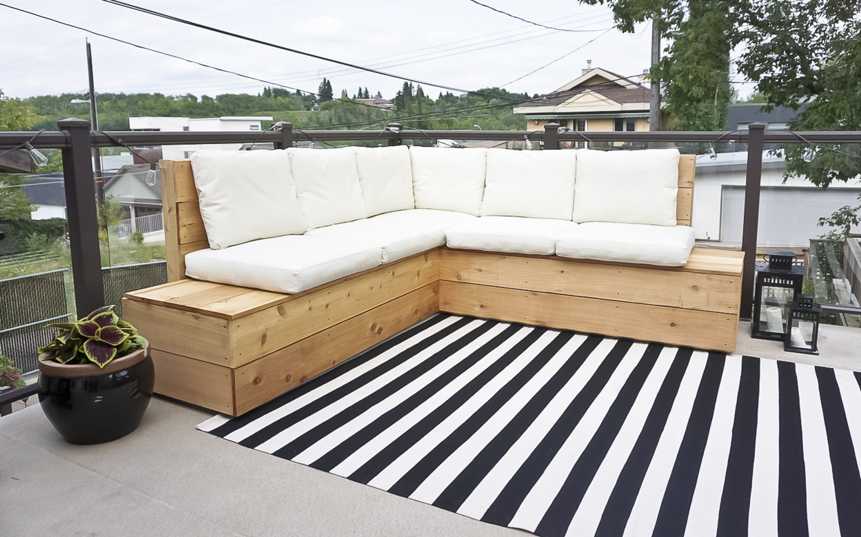 Image of: Diy Outdoor Sectional Kristina Lynne