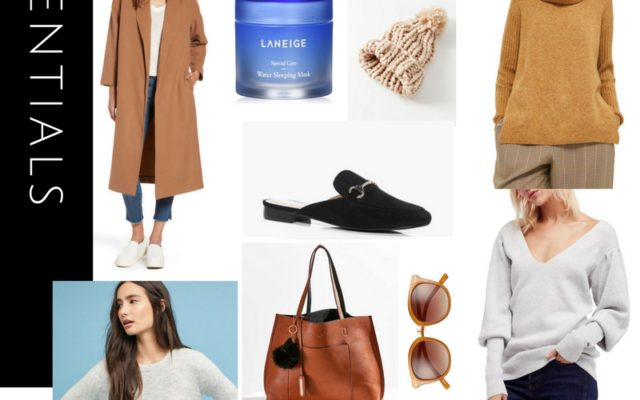 Fall essentials, fall fashion, fall 2017 must haves