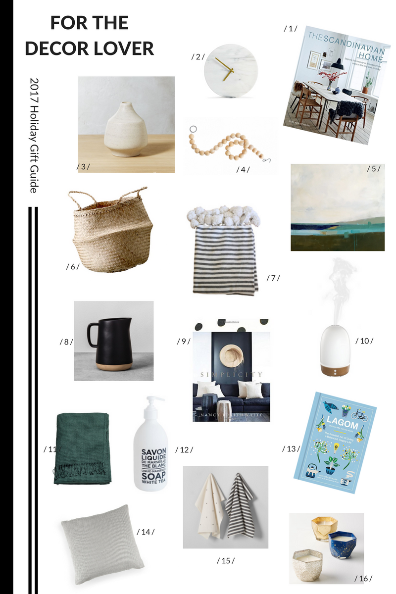 2017 Holiday Gift Guide, Decor, home decor gift guide