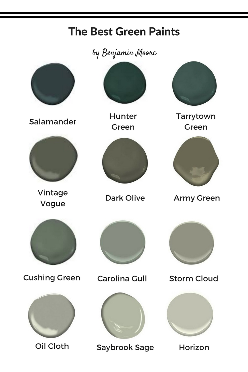 The best green paints to decorate with now kristina lynne Green grey paint benjamin moore