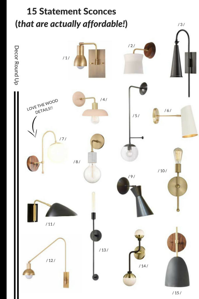 statement sconces, wall sconces, affordable lighting
