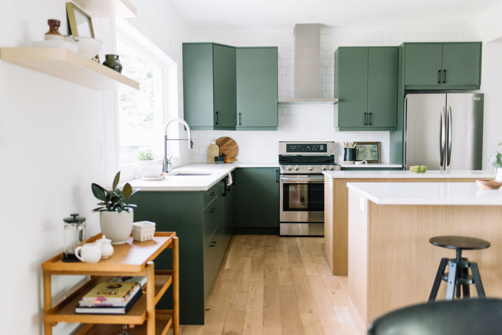 Before and After The Lady Laurier, kitchen design, green kitchen