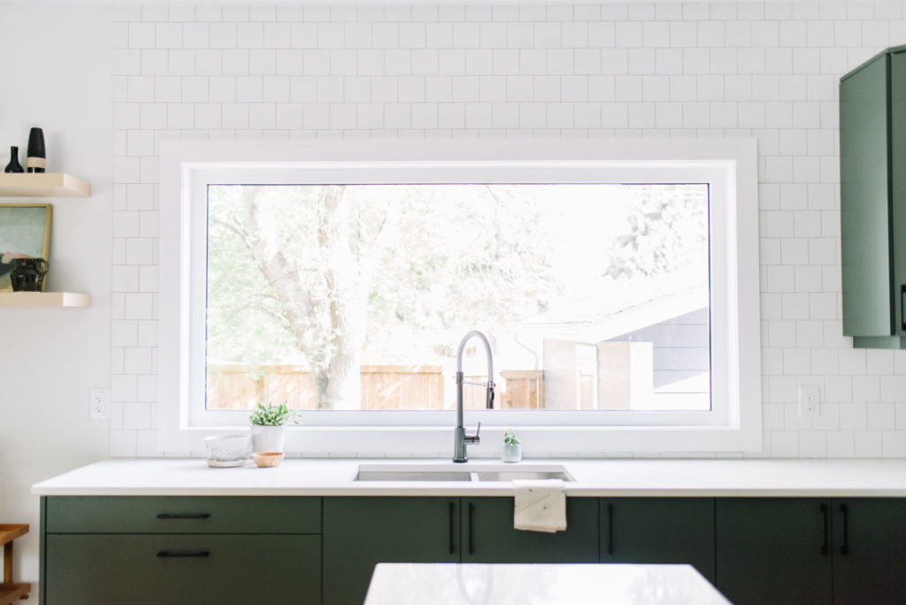 Before and After The Lady Laurier, kitchen design, kitchen sink, Delta kitchen faucet