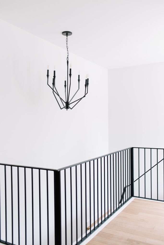 Before and After The Lady Laurier, landing, staircase design, staircase chandelier