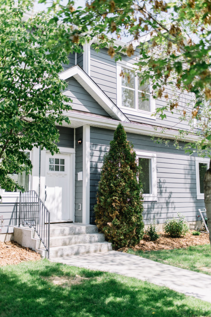 Before and After The Lady Laurier, two storey, exterior home design