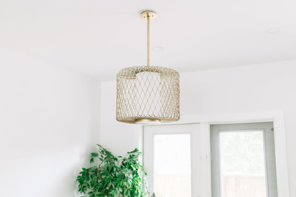 Before and After The Lady Laurier, dining chandelier, dining pendant