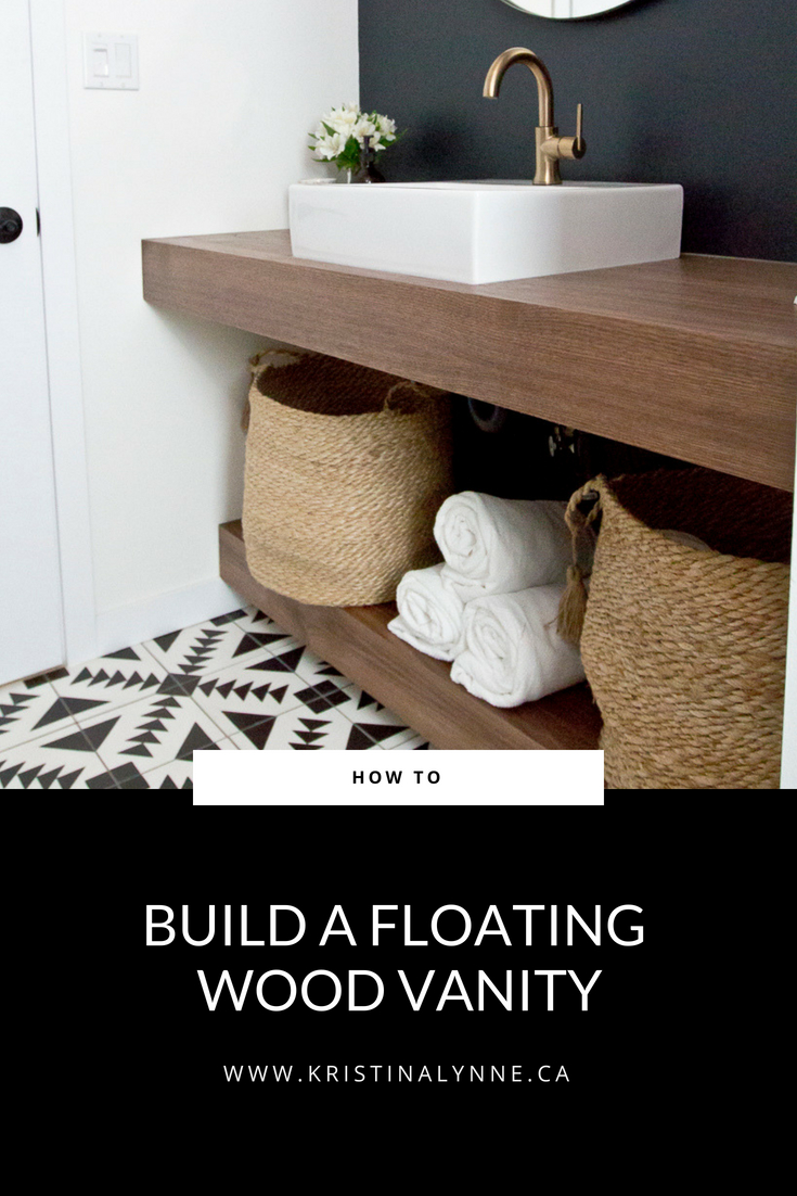 How To Diy Your Own Floating Vanity Kristina Lynne