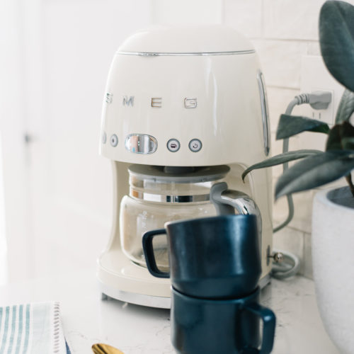 spring decor, spring home refresh, SMEG coffee maker,